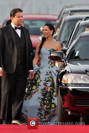 Lucy Liu and Beverly Hilton Hotel