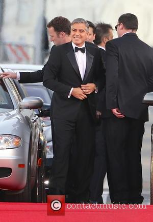 George Clooney and Beverly Hilton Hotel