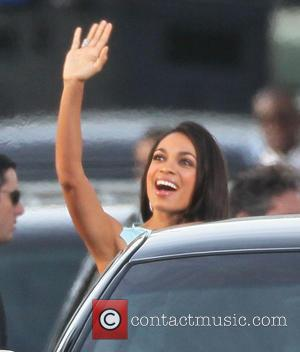 Rosario Dawson and Beverly Hilton Hotel
