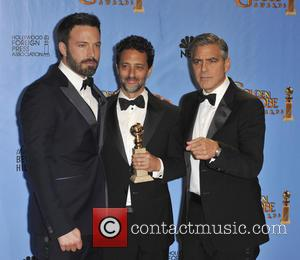 Grant Heslov, George Clooney, Ben Affleck and Beverly Hilton Hotel