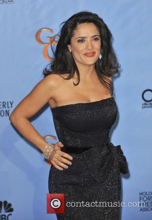 Salma Hayek, Golden Globes Dress 2013