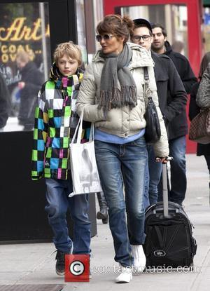 Mingus Lucien Reedus and his mother Helena Christensen Out and About in Greenwich Village New York City, USA - 18.02.12
