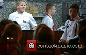 Gordon Ramsay shouts at trainee Will in the restaurant at Hotel GB London, England - 02.10.12