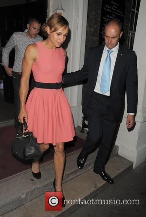 Olympic Gold Medalist Jessica Ennis leaving Omega House at 2.30am. London, England - 09.08.12