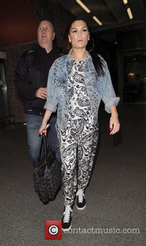 Jessie J aka Jessica Cornish arrives at St Pancras International to board a Eurostar train. She was only in the...