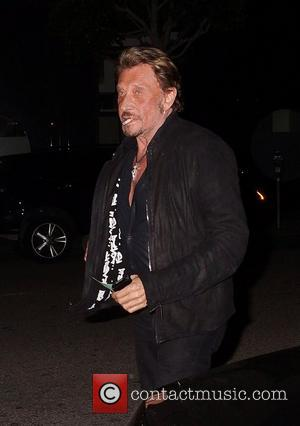 Johnny Hallyday arrives at Mr Chow restaurant Los Angeles, California - 21.03.12