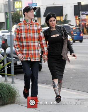Kat Von D and Deadmaus hold hands as they go for a stroll together  Featuring: Kat Von D, DeadmausWhere:...