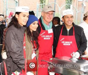 Booboo Stewart, Fivel Stewart, Harrison Ford and Antonio Villaraigosa
