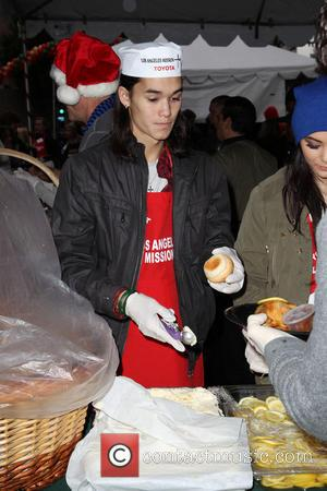Booboo Stewart Los Angeles Mission Christmas Eve For The Homeless  Featuring: Booboo Stewart Where: Los Angeles, California, United States...