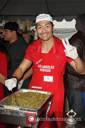 Brian Tee Los Angeles Mission Christmas Eve For The Homeless  Featuring: Brian Tee Where: Los Angeles, California, United States...