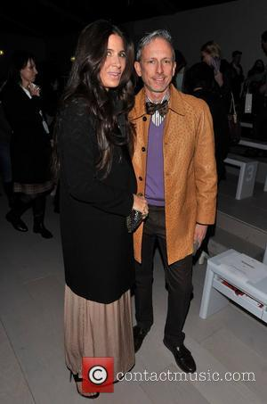 Patrick Cox and guest London Fashion Week Autumn/Winter 2012 - ISSA - Front Row London, England - 18.02.12