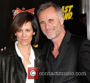 Annabeth Gish, Timothy V. Murphy and Grauman's Chinese Theatre