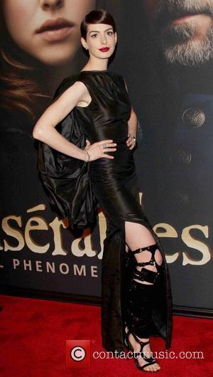Anne Hathaway and Ziegfeld Theatre