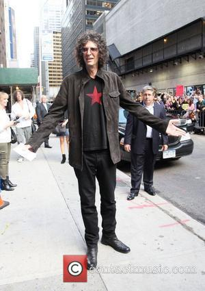 Howard Stern at the Ed Sullivan Theater for the 'The Late Show with David Letterman'. New York City, USA