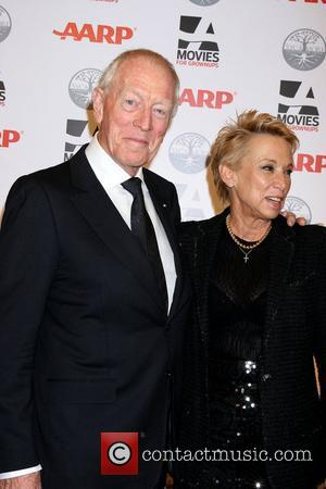 Max von Sydow, Wife Catherine Brelet  AARP's 11th Annual Movies For Grownups Awards at the Beverly Wilshire Hotel Los...