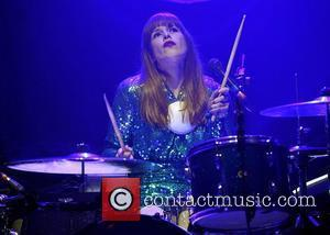 Anna Prior of Metronomy performing live onstage during the NME Award Tour night at O2 Academy Brixton London, England -...