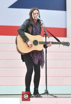 Amy MacDonald rehearses ahead of the 2012 Olympic Celebration Parade London, England - 10.09.12