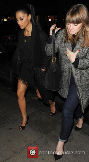 Nicole Scherzinger leaving Nobu Berkeley heading for the Box Club in Soho 