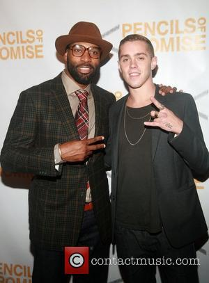 Baron Davis and Sam Adams  Second Annual Pencils Of Promise Gala at Guastavino's  New York City, USA -...