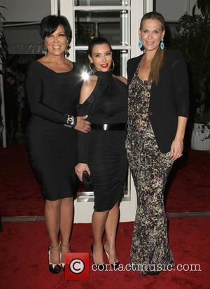Kris Jenner, Kim Kardashian and Molly Sims