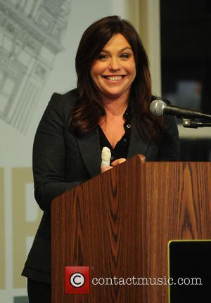 Rachael Ray signs copes of her new book 'My Year in Meals' at Barnes & Noble. Rachael had injured her...