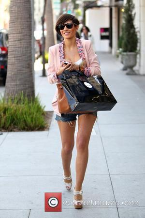 Frankie Sandford from The Saturdays  shopping in Beverly Hills. During the shopping trip, Frankie purchased a vintage Louis Vuitton...