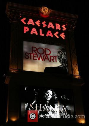 Caesars Palace sign with Shania Twain Advertisement.   The singer starts her residency at Caesars Palace December 1, 2012...