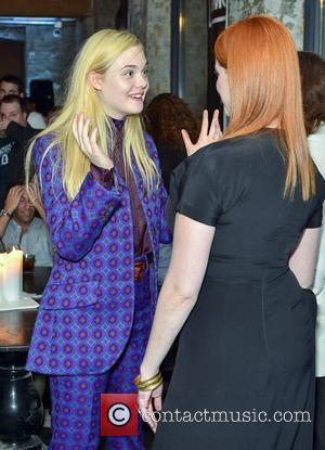 Elle Fanning and Christina Hendricks