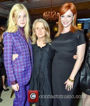 Elle Fanning, Christina Hendricks and Sally Potter