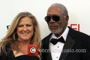 Lori McCreary, Morgan Freeman and Afi Life Achievement Award