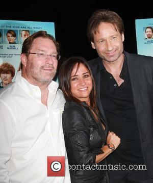 Pamela Adlon, Stephen Root and David Duchovny attends the premiere of Image Entertainment's 'Goats' at the Landmark Theater. Los Angeles,...