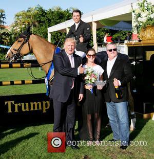 Donald Trump; Mark Bellissimo Trump Invitational Grand Prix at Mar-a-Lago Club  Featuring: Donald Trump, Mark Bellissimo Where: Palm Beach,...