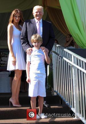 Donald Trump, Melania Trump and Barron Trump