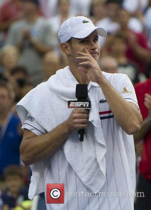 Andy Roddick (USA) loses to Juan Martin Del Potro of Argentina after their men's singles fourth round match on Day...