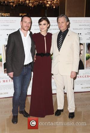 Michael Fassbender, Keira Knightley and Viggo Mortensen