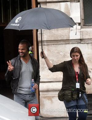 Amaury Nolasco  arriving on the film set to shoot scenes for his new movie 'A Good Day to Die...
