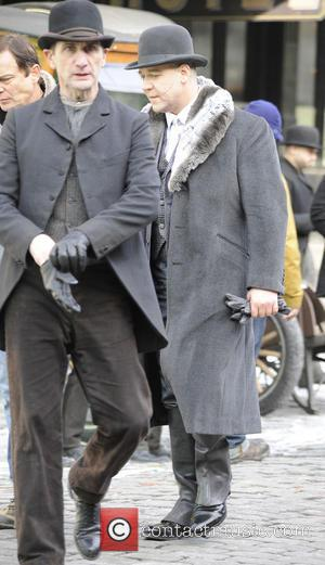 Russell Crowe Actors filming on the movie set of 'Winter's Tale'  Featuring: Russell Crowe