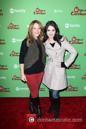 Katie Leclerc, Vanessa Marano ABC Family's 25 Days of Christmas Winter Wonderland Event at the Rock Center Cafe at Rockefeller...