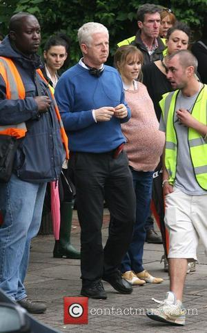 Director Richard Curtis  on the set of 'About Time', on location in London. Rachel McAdams plays pregnant Mary and...