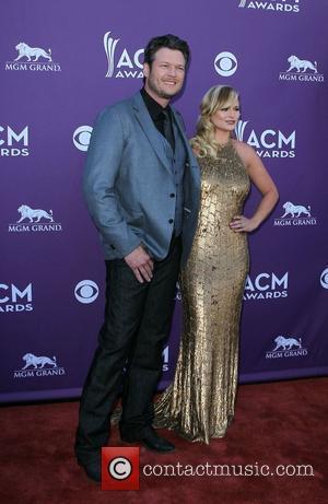 Blake Shelton, Miranda Lambert 2012 ACM Awards (Academy of Country Music Awards) at the MGM Grand - Arrivals  Las...