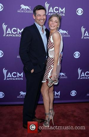 Eddie Cibrian, LeAnn Rimes 2012 ACM Awards (Academy of Country Music Awards) at the MGM Grand - Arrivals  Las...