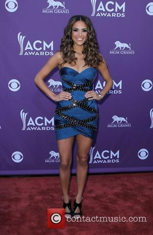 Jana Kramer 2012 ACM Awards (Academy of Country Music Awards) at the MGM Grand - Arrivals  Las Vegas, Nevada...