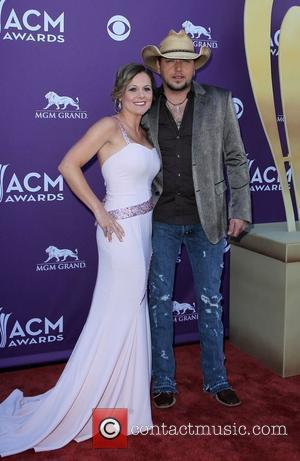 Jessica Aldean, Jason Aldean 2012 ACM Awards (Academy of Country Music Awards) at the MGM Grand - Arrivals  Las...