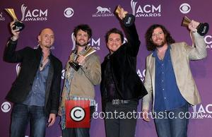 Eli Young Band 2012 ACM Awards (Academy of Country Music Awards) at the MGM Grand - Press Room  Las...
