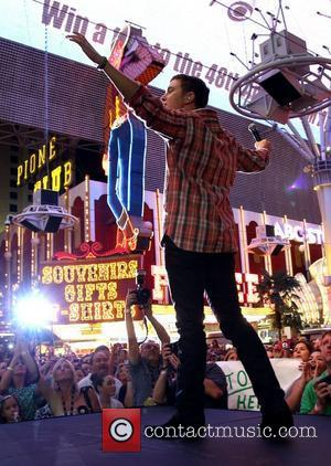 Scotty McCreery 2012 ACM Weekend on Fremont Street Experience Friday Concert Las Vegas, Nevada - 30.03.12