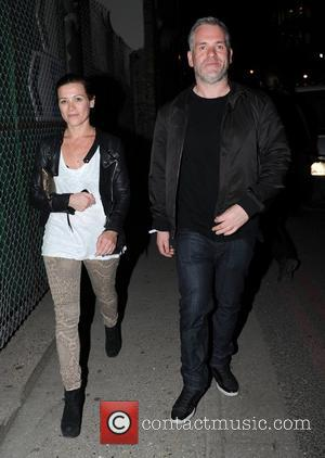 Chris Moyles Celebrities leave the Adidas Underground party in Shoreditch London, England - 06.08.12