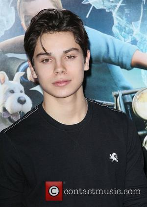 Jake T. Austin,  at the New York premiere of 'The Adventures of Tintin' at the Ziegfeld Theatre. New York...