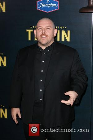 Nick Frost,  at the New York premiere of 'The Adventures of Tintin' at the Ziegfeld Theatre. New York City,...