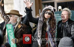 Aerosmith's Brad Whitford, Steven Tyler, Joey Kramer and Boston