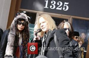 Aerosmith's Steven Tyler, Tom Hamilton, Joe Perry and Boston